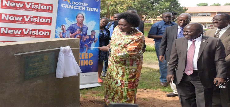 Kadaga launches construction of cancer bunkers | Parliament